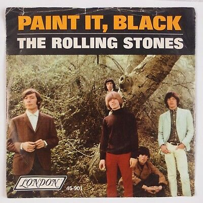 THE ROLLING STONES: Paint It, Black US London Orig 45 w/ PS Rock Classic 7""
