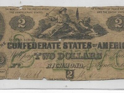 "$2 (Slayer Note) ""rare"" (Green Print)1800's $2 (Slayer Note)  Rare Note! 1800's"