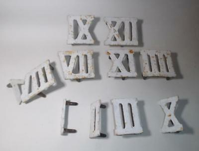 Vintage Cast Iron Roman Numerals Architectural Salvage House or Garden Numbers