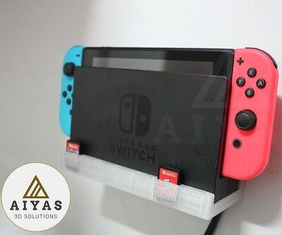 Estante Pared Nintendo Switch Con Ranuras Para 7 Cartuchos De Juego 3D Printed