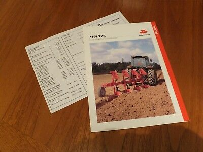 Massey Ferguson 715/725 Plough Brochure With Price List