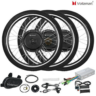 "Voilamart 250W 1000W 26"" Electric Bicycle E Bike Front Rear Wheel Conversion Kit"