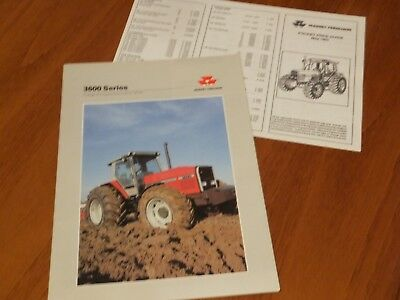 Massey Ferguson 3600 Series Tractor Brochure Plus Price List