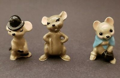 Hagen Renaker set of 3 City Mouse, Country Mouse, Big Brother, Miniature