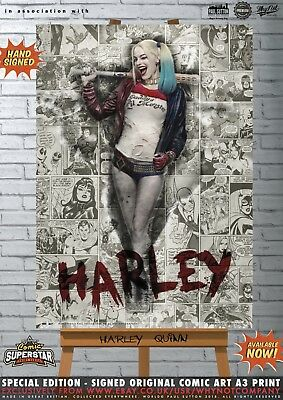 Harley Quinn Margot Robbie Suicide Squad Batman Comic Superstar A3 Art Print
