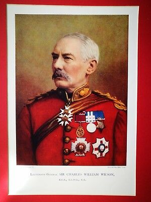 Antique Military Portrait Lt General  Sir Charles William Wilson Mounted Print