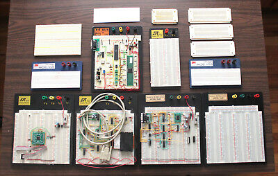 Lot of Solderless Breadboards 3220 and 2390 Point Plus Assorted Sizes Breadboard