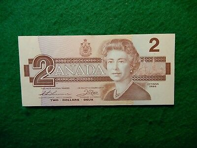 * Canadian 1986 series two dollar bill hard to find excellent clean crisp nice A