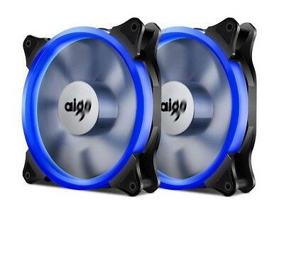3 Pack Aigo Halo Ring Fan 140mm Case Fan Quiet Edition High Airflow Adjustable
