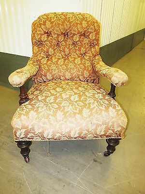 Lovely Large Vintage Chair On Wheels