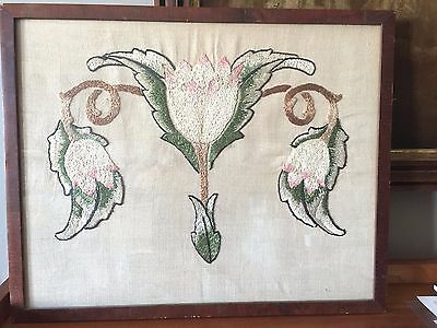 Antique vintage Victorian / Arts & Crafts needlework embroidery art nouveau