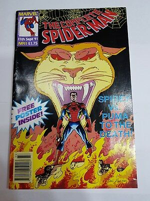 The Complete Spiderman Marvel Comics 11th Sept 1991 Edition Collectors Item RARE