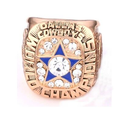 1971 NFL Football Dallas Rings Cowboys Super Bowl 5 Years Champion Band Ring