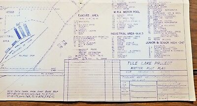 Tulelake War Relocation Camp Is Detailed In Copy of 1945 Plot Plan