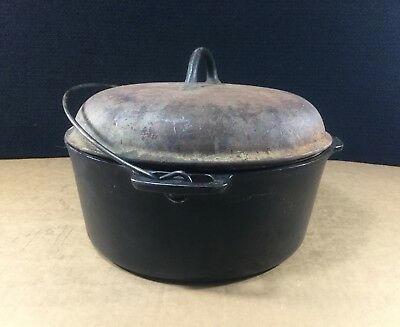Vintage Cast Iron Sidney -O- Wagner Ware Pot With Lid. Great Condition L@@k!!