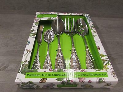 Portmeiron Botanic Garden Stainless Steel 5 pc. Hostess Set