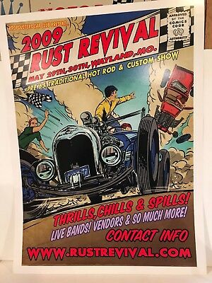 Jeff Norwell 2009 Rust Revival  Poster 24 X 18 Inches Hot Rod Art