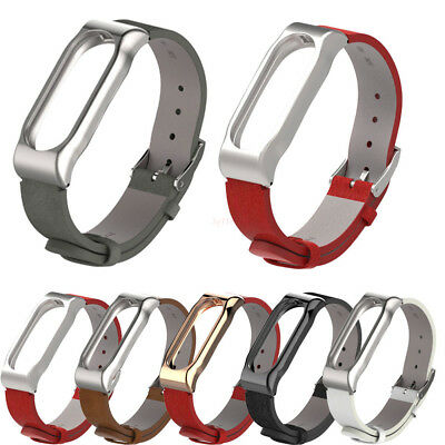 Leather Bracelet Strap Wristband Wrist Band Replacement For Xiaomi Mi Band 2 L#