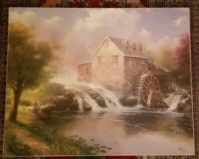 Thomas Kinkade Signed Dated Canvas Litho Painting Numbered Blessings of Summer