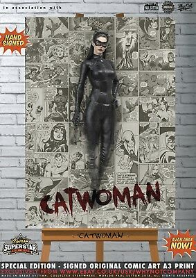 Catwoman Anne Hathaway The Dark Knight Rises Gotham Comic SUPERSTAR Signed Print