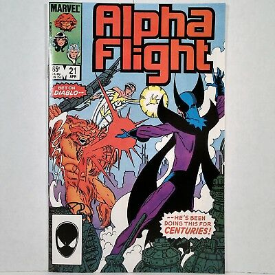 Alpha Flight - Vol. 1, No. 21 - Marvel Comics Group - April 1985 - No Reserve!