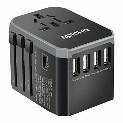 Universal Travel Power Adapter All in One Worldwide International Wall AC New
