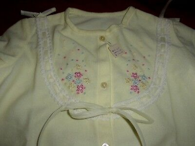 Nwt~Vintage Baby Nightgown~Lace~Tiny Embroidered Flowers 6+Mos