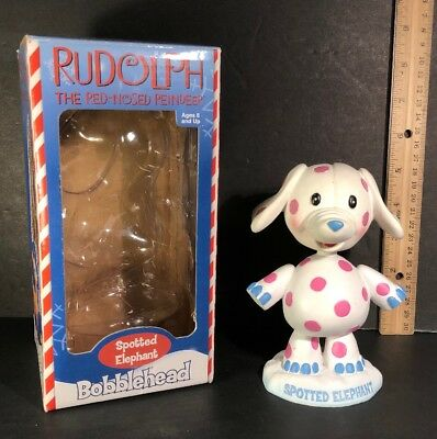 "RUDOLPH THE RED NOSED REINDEER Collector Series SPOTTED ELEPHANT 5"" BOBBLEHEAD"