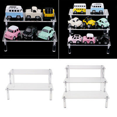 2pcs Acrylic Removable Rack Storage Figures Perfume Car Model Display Stand