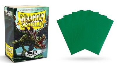 Dragon Shield - Mat Green 100 Protective Sleeves Cases Standard Card Holder