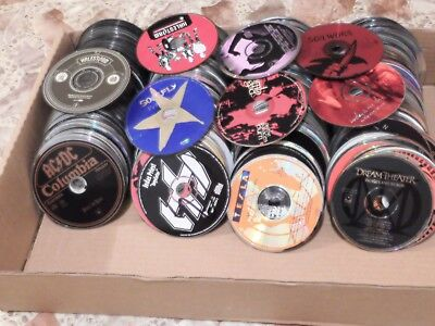 Lot of 100 Heavy metal / hard rock / punk cds - Discs only - FREE SHIPPING!