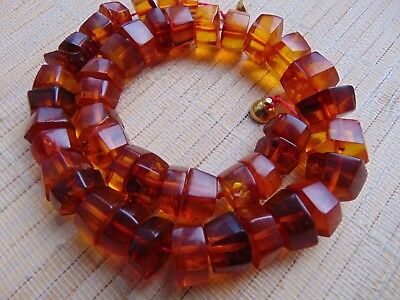 """Old Natural Honey Butterscotch Baltic Amber beads Necklace 43.5 gr 16"""" 41cm"""
