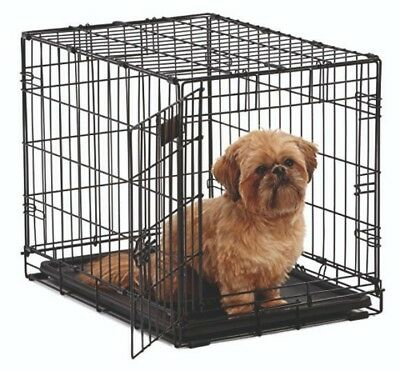 Dog cage/crate for Small pet  60cm x 44cm x 44cm in black wire and plastic tray