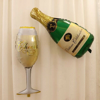 2pcs/set Champagne Cup Beer Bottle Balloons Aluminium Foil Balloon Helium Ballon