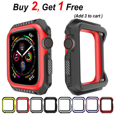 PASBUY B23 Silicone Replacement Case Band for Apple Watch Series 3 2 1 38mm&42mm