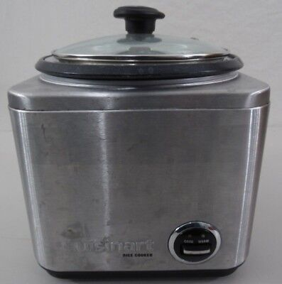 Cuisinart CRC-800 Rice Cooker, 8-Cup Stainless Steel USED, TESTED