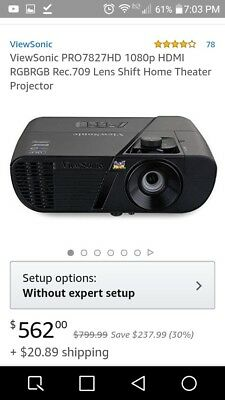 Home Theater ProjectorViewsonic PRO7827HD