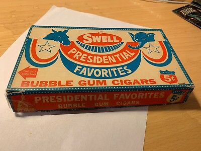 Richard M. Nixon 1968 Swell Presidential Bubble Gum Cigars Box w/22 Out Of 24