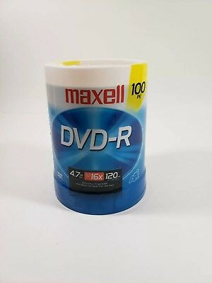 Maxell DVD-R 100 Pack 4.7Gb 120 kin up to Max 16x Sealed