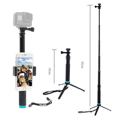 Waterproof Portable Monopod Tripod Gopro Selfie Stick Pole for Gopro 3 4 5 6