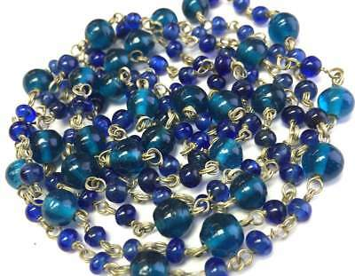 Old Vtg ANTIQUE Necklace Art Deco or Victorian Glass Bead Jewelry lot i