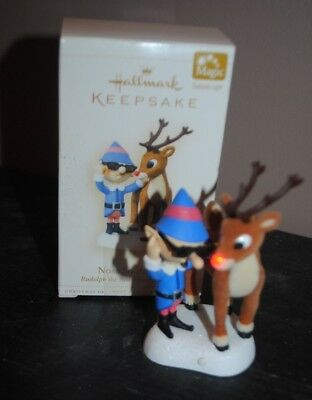 Hallmark Rudolph the Red-Nosed Reindeer Nose So Bright Ornament Works Great 2006