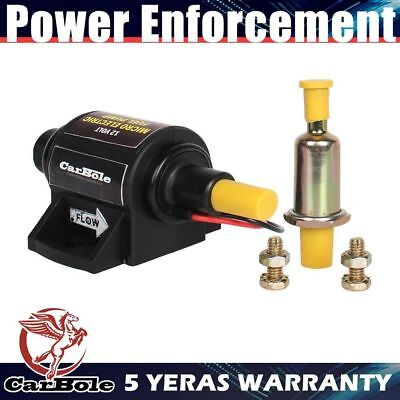 12V Universal 2-3.5 PSI Electronic Fuel Pump 42GPH 5/16INCH Outlet and Inlet US