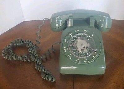 Vintage Bell System Western Electric Phone Green Rotary Telephone