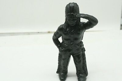 "Vintage Cast Iron Indian Chief Coin Bank 6 "" Tall Hubley? Indian Motorcycle"