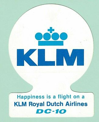 KLM Royal Dutch Airlines DC-10 Luggage Sticker Label