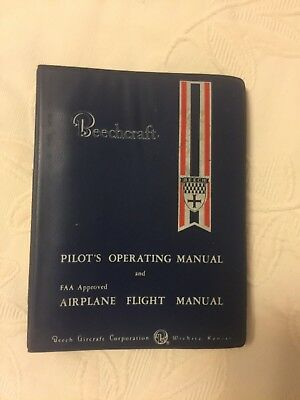 Beechcraft Baron B55 Pilots Operating Manual & Airplane Flight Manual 1973