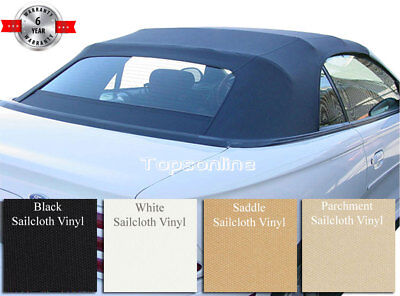 c19da1dd94c5 Ford Mustang Convertible Soft Top   Heated Glass Window Sailcloth Fits 1994- 2004