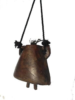Indian  Vintage Wooden Decorative Cow Bell  Home Decor Jbno-001