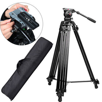 Professional Heavy Duty DV Video Camera Tripod with Fluid Pan Head Kit For DSLR